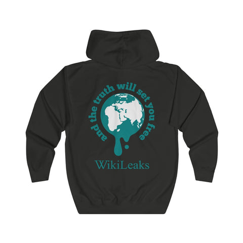 WikiLeaks Supporters - And the Truth Will set you Free - Unisex Full Zip Hoodie