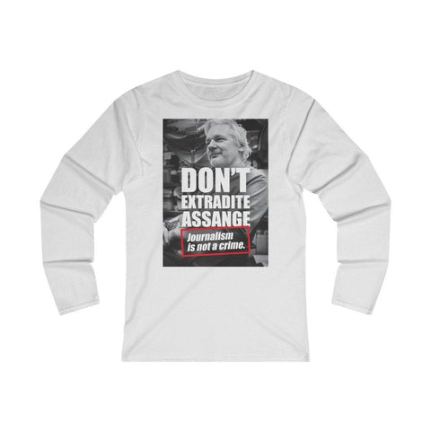 Don't Extradite Assange - Journalism is Not a Crime - Women's Fitted Long Sleeve Tee