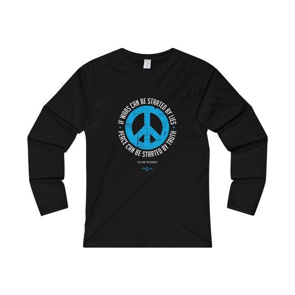 Peace can be started by Truth - Assange - Women's Fitted Long Sleeve Tee