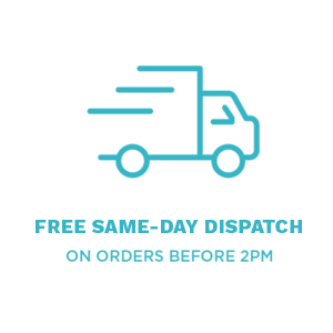 Free same day dispatch on orders before 2pm