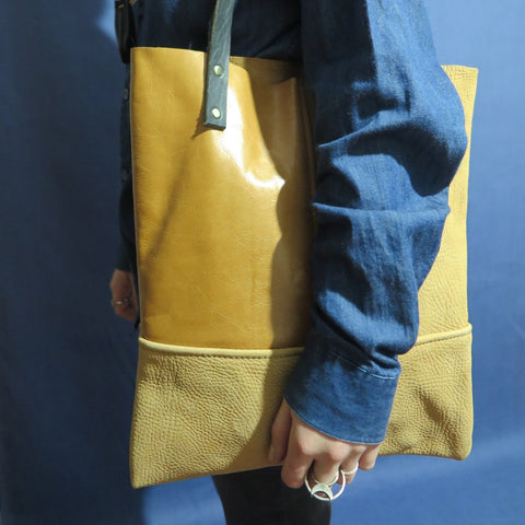 #1181 // Honey + Caramel Tote