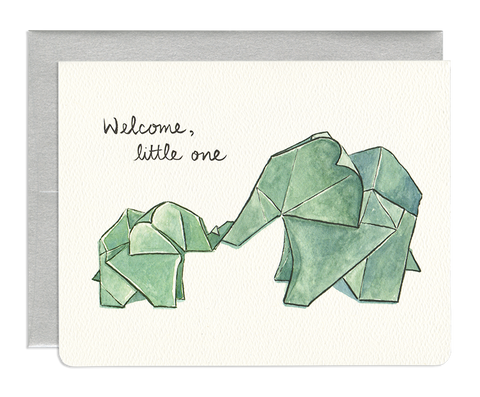 ORIGAMI ELEPHANTS CARD