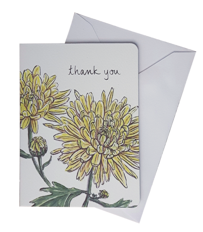 CHRYSANTHEMUM THANK YOU MINI CARD