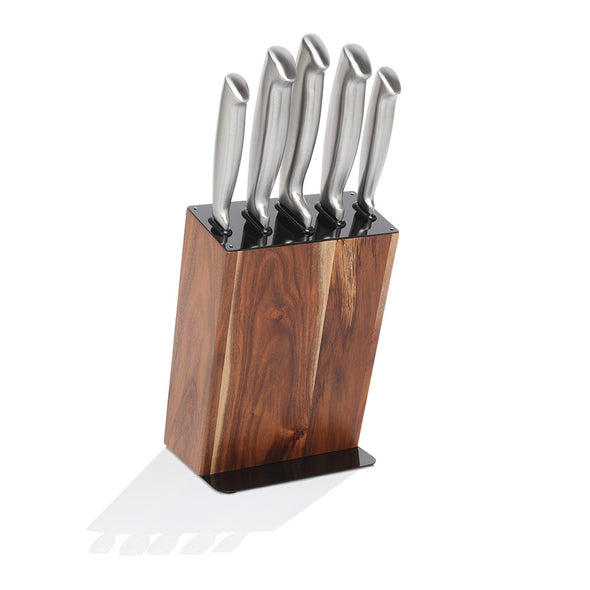 Black Acacia 6 Piece Knife Block