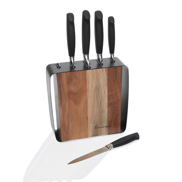 Framed Acacia 6 Piece Knife Block