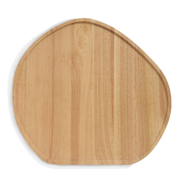 Wooden Serving Platter Round Large