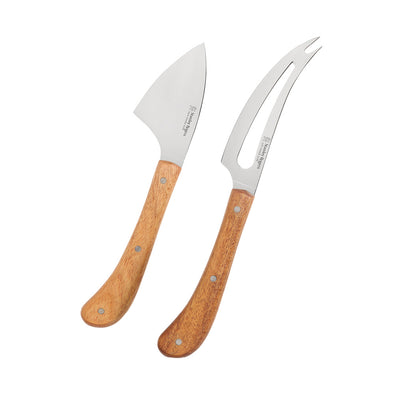Pistol Grip Acacia 2 Piece Cheese Knife Set