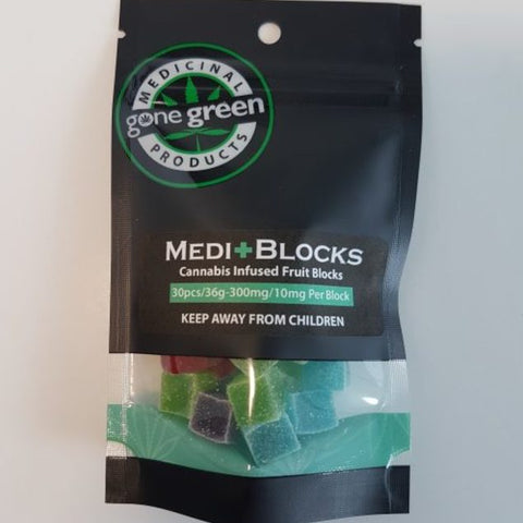 Gone Green MediBlocks - 300mg - 30 pcs