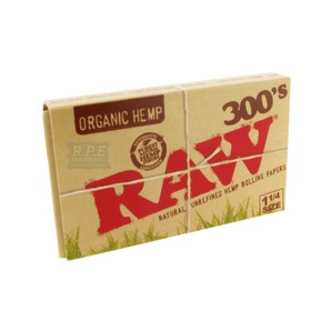 RAW 300's Organic Hemp Rolling Papers