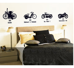 4 Bikes  Wall Art  wall decals Removable Wall Sticker in Black