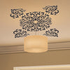 Image of FLORAL black wall decals  wall decals Removable Wall Sticker