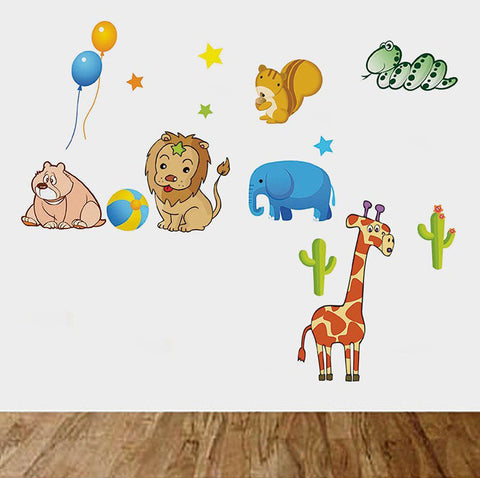 Cute Animal kingdom Nursery / kids Removable wall decals Wall Sticker