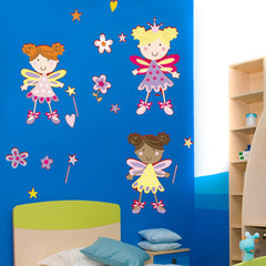 FREE WALL STICKER , 3 Fairies Designer Art Decor Removable Wall Sticker