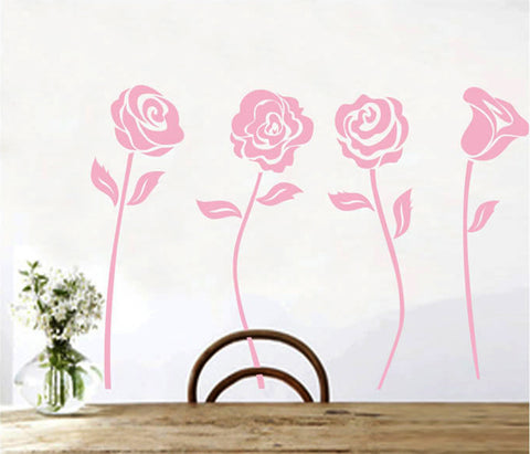 Pink Rose Removable Wall Sticker for Kids room