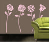 Image of Pink Rose Removable Wall Sticker for Kids room