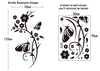 Image of Floral and Butterflies  Wall Art  wall decals Removable Wall Sticker