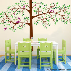 180cm Tree with Birds DIY Removable Wall Decal