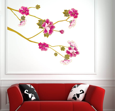 Floral  Removable Wall Sticker Wall Art  wall decals