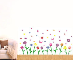 Floral & Butterflies Removable Wall Sticker Wall Art  wall decals