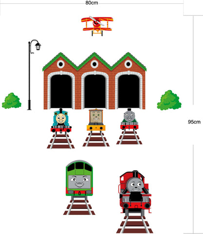 THOMAS THE TANK  Kids Removable wall decals Wall Sticker