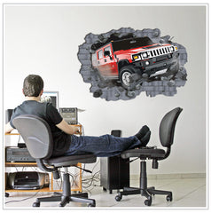 3D Effect CAR wall decals Removable Wall Sticker