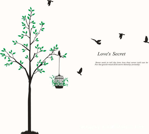 Tree with Birds Kids / Nursery wall decals Removable Wall Sticker