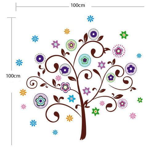 Floral Removable Wall Sticker for  home