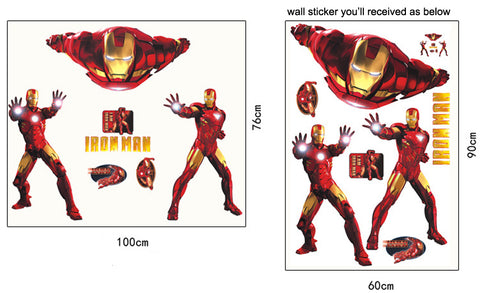 IRON MAN Kids / Nursery wall decals Removable Wall Sticker