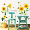 Image of SUNFLOWER Removable Wall Sticker Wall art decal mural