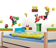 SUPER MARIO Nursery / Kids Removable Wall Sticker Wall Art  wall decals