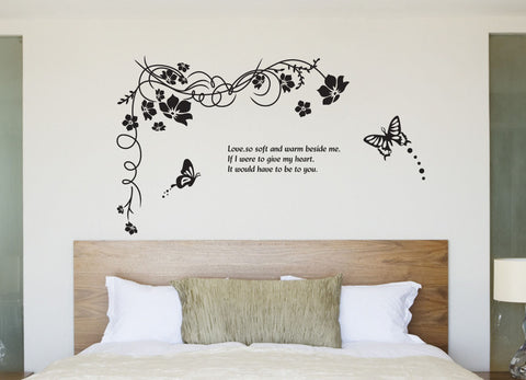 FLORAL Wall decals Removable Wall Sticker in Black