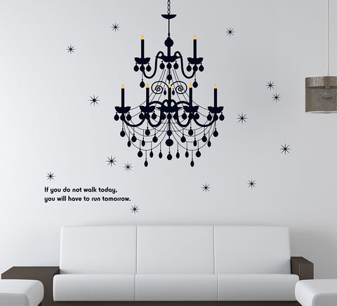 CHANDELIER in Black wall decals  wall decals Removable Wall Sticker