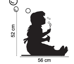 Bubble Girl  - Banksy Inspired Wall Decal