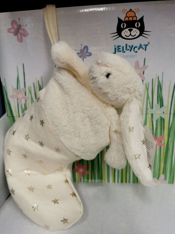 Jellycat Bashful Twinkle Bunny Stocking BS4TW Christmas gift