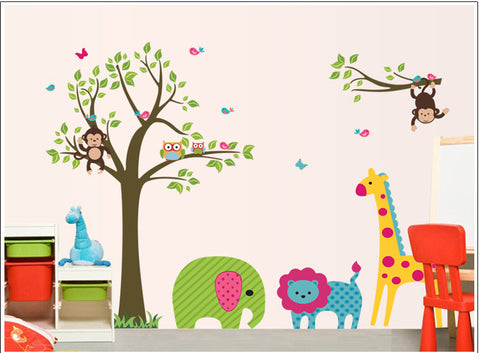Safari Scene Nursery or Kids room DIY Removable Wall Decal HM Wall Sticker HM Wall Sticker
