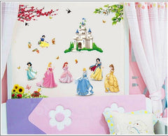 Princess and Castle Kids / Nursery wall decals Removable Wall Sticker