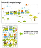 Image of Animal Train Nursery / Kids Removable Wall Sticker Wall Art  wall decals