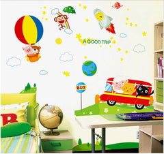 Hot airballoon  Kids / Nursery wall decals HM Removable Wall Sticker
