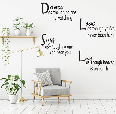 Inspirational Quote Wall ecal Removable wall sticker Mural