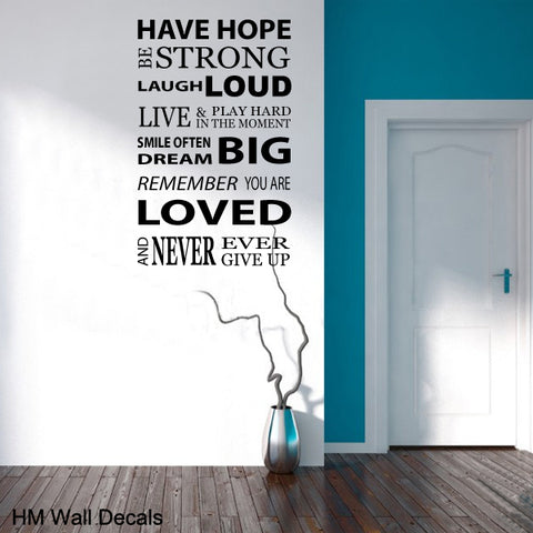 INSPIRATION Quote DIY Removable Wall Decal Wall Sticker Mural