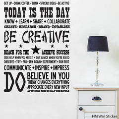 BE CREATIVE inspiration Removable Wall Decals Wall Art