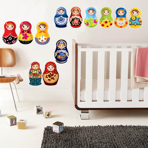 FREE Matryoshka dolls / Russian Dolls wall decals Removable Wall Sticker