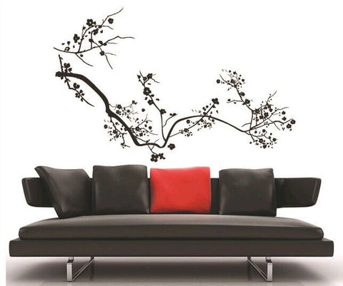 Blossom Branch in Black wall decals Removable Wall Sticker