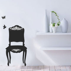Black CHAIR wall decals  wall decals Removable Wall Sticker