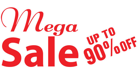 Custom Mega Sale Sticker window decal