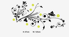 Floral Wall Art  wall decals Removable Wall Sticker