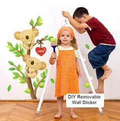 Cute Koala and Tree wall decal kids removable wall sticker