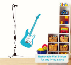 Guitar DIY HM Removable Wall Decal