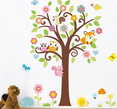 OWLS,TREE,CUTE ANIMALS Nursery / Kids Removable Wall Sticker Wall Art wall decals