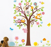 Image of OWLS,TREE,CUTE ANIMALS Nursery / Kids Removable Wall Sticker Wall Art wall decals